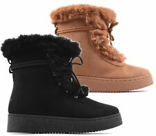 WOMENS FLAT SOLE WEDGE PLATFORM CREEPERS HI TOP GIRLS ANKLE TRAINERS BOOTS SIZE