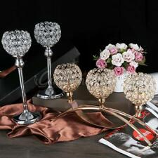 Elegant Crystal Glass Candle Holder Tealight Wedding Party Decor Candlestick 1pc