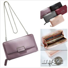 Women handbag purse wallet Detachable chain card holder pu leather clutch bag