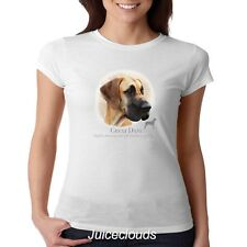 Great Dane Fitted Shirt Great Dane Puppy Pet Rescue Dog Owner JUNIORS Tee