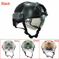 Tactics Military Airsoft Paintball Tactical Protective Fast Helmet W/Goggle