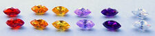 5x10 mm Marquise  Cubic Zirconia  Colored Stones  ONE PAIR - assorted colors