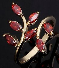 Jewelry Size 6,7,8,9,10  Ladies Bridal Garnet 18K Gold Filled Wedding Rings