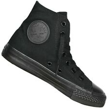 Converse Chuck Taylor All Star HI MONO BLACK TRAINERS Chucks Sneaker Black