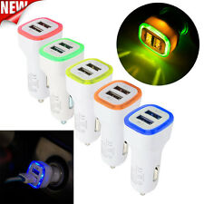 3.1A LED USB Dual 2 Port Adapter Socket Car Charger For iPhone/Samsung/HTC/iPad