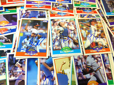 1989 Score baseball cards autographs; YOU PICK to fill sets; signed
