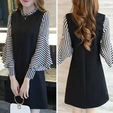 Fashion Women Sexy Loose Long Sleeve O-neck  Party Dress Cocktail Mini Fall Hot