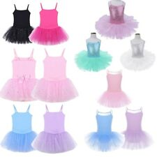 Tutu Dress Kids Girl Leotard Skirt Ballet Fairy Dancewear Gymnastics Costume Set