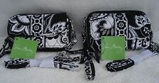 Vera Bradley ALL IN ONE CROSSBODY 3 Compartment Wallet Wristlet MIDNIGHT PAISLEY