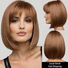 Ladies Bob Full Wig Short Straight Hairstyle Cosplay Party Daily Wigs UK Post 9o