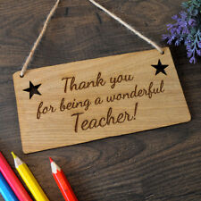 Thank You For Being A Wonderful Teacher Plaque for School Teacher Thank You Gift