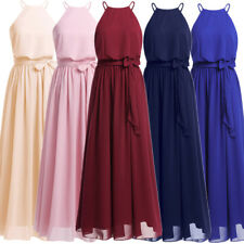 Womens Elegant Halter Long Evening Party Dress Evening Formal Cocktail Prom Gown