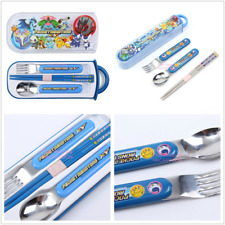 JAPAN SKATER POKEMON STAINLESS STEEL TABLEWARE SET - SPOON,FORK & CHOPSTICKS