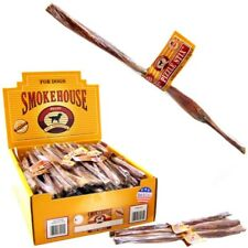 "Smokehouse 100% natural Pizzle Stix Dog Chews 6.5"" or 12"" size 100 ct box"