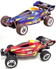 All Terrain Off Road Racer RC 27MHz 1:16 Spring Shocks Red or Blue Car Blue Hat