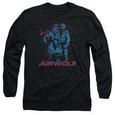 Airwolf TV Show Cast GRAPHIC Licensed Adult Long Sleeve T-Shirt S-3XL