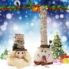 Snow Man Old Man Christmas Decoration For Home Christmas Doll Standing Figurines