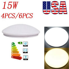 4/6pack 15W LED Flush Mounted Ceiling Down Light Cool Warm White Lamp Fixtures