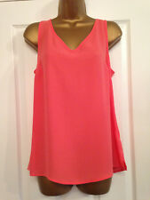 BNWT M&S Collection Pink Coral Camisole Cami Top Sleeveless Blouse Vest Shell