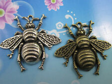 wholesale: 8/20pcs Retro style lovely bees alloy charms pendant 40x37mm