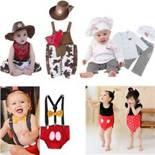 Baby Boy Girl Christmas Fancy Party Costume Suit Dress Outfit+HAT Set 3-24M