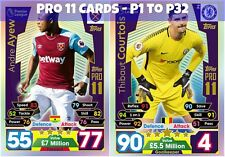 Match Attax 2017/2018 - Pro11 P1 - P32 Cards - Collectible Pro11 Card *New*
