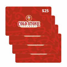 Cold Stone Creamery Gift Card Physical $100 $25x4 Christmas birthday in Gift Box