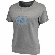 North Carolina Tar Heels Women's Gray Modern Covina Short Sleeve Sweatshirt Top