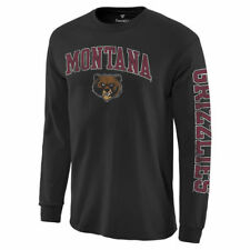 Montana Grizzlies Black Distressed Arch Over Logo Long Sleeve Hit T-Shirt