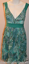 GUESS BY MARCIANO Dress Floral Print Palm Sleeveless Green Size 2 XS