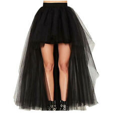 High Low Tulle Skirt Women A Line Formal Princess Party Wedding Bridesmaid Skirt