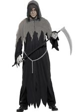 Adult Grim Death Reaper Robe Mens Halloween Horror Fancy Dress Party Costume