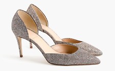 J Crew LUCIE Glitter Pumps High Heels Size 8, 8.5 SOLD OUT!