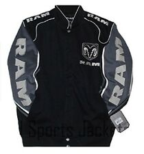 Authentic Ram Truck Embroidered Cotton Jacket JH Design Black New