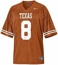 Nike Texas Longhorns No. 8 Youth Replica Football  Boy's Game Jersey, Burnt Orng