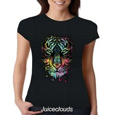 NEW Neon Tiger JUNIORS Fitted Shirt Tiger Splash Big Cat Tee