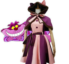 Alice In Wonderland Cheshire Cat Cosplay Costume Christmas Girl Fancy Dress New