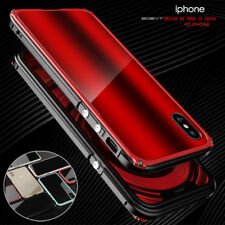 For Apple iPhone X & 8 Ultra-Thin Aluminum Metal Frame Bumper+PC Back Case Cover