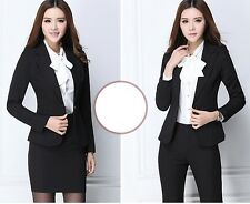 élégant Suit complete woman black jacket long sleeve trousers or skirt 7133