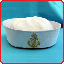 KIDS CHILDRENS/ADULTS NAVY SAILOR HAT-POPEYE-GOB-YACHT-BOAT-SEA-COSTUME-ANCHOR03