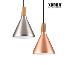 Simplify Pendant Light Timber Top 2M Cable Bedroom Living Room 18CM Droplight