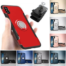 Shockproof Hybrid Ring Stand Armor Slim Case Cover For iPhone X 7 8 Plus 6S 5 SE