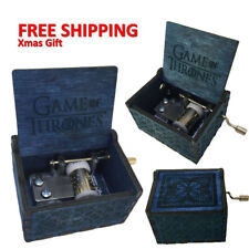 Game of Thrones Blue Engraved Wooden Music Box interesting Kid Toys Xmas Gifts