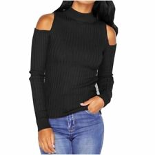 Women's Long Sleeve Knitted Pullover Sweater ladies Top shirt