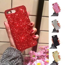 Luxury Glitter Rhinestones Decorated PC Hard Phone Cover For iPhone X 6 7 Plus