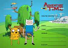 NEW ADVENTURE TIME BIRTHDAY PARTY INVITATIONS, KIDS, CHILDRENS PARTY INVITES