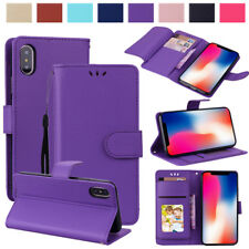 For iPhone X 8 7 Plus 6S Luxury Flip Wallet Leather Stand Card Holder Case Cover