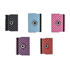 VARIOUS COLORS POLKA DOT PU LEATHER 360 DEGREE ROTATING CASE FOR APPLE IPAD AIR