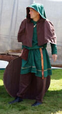 Larp/Sca/Re-enactment/Medieval ARCHER HUNTER TUNIC & BROWN HOOD ALL SIZES