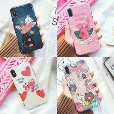 Cartoon cute Pink Panther Bear laser Sparkle case Cover for iPhone X 8 7 6S Plus